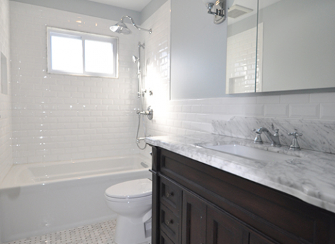 Hallway Bathroom - New Hyde Park