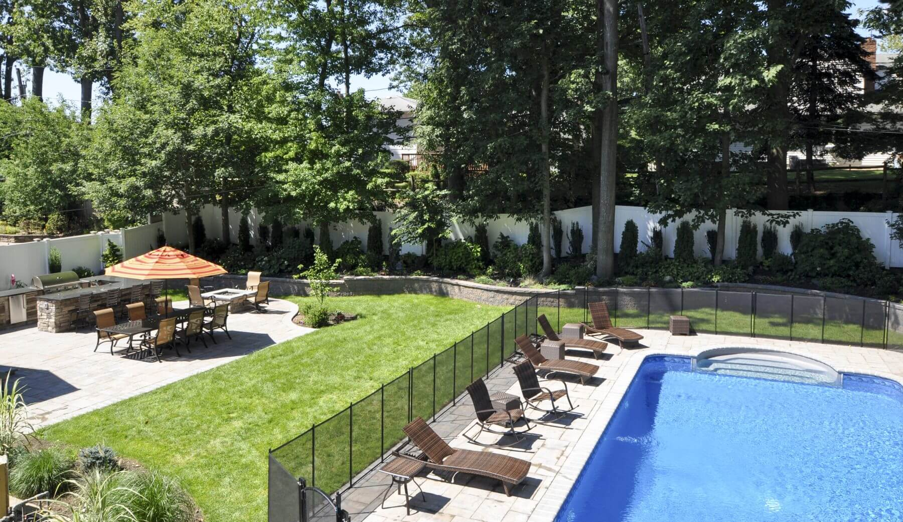 the perfect staycation backyard center island contracting