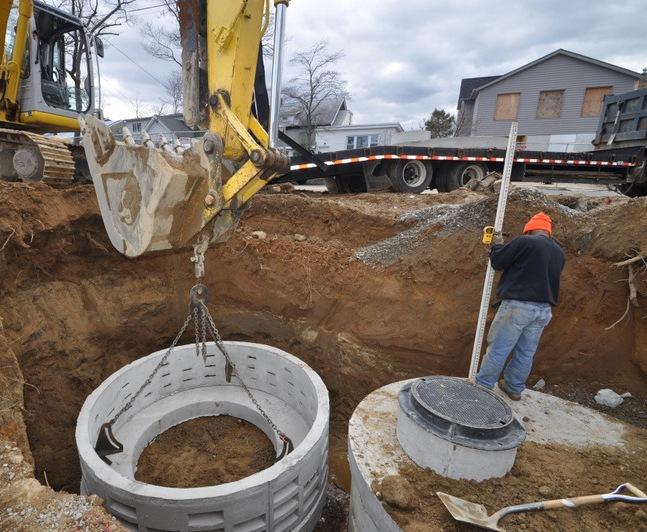 Long Island NY Drywells   Drainage